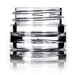 1:8 oz clear PS thick wall jar with 33-400 neck finish