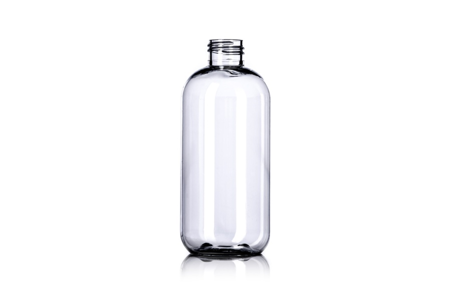 Clear Boston PET Bottle – 8 oz
