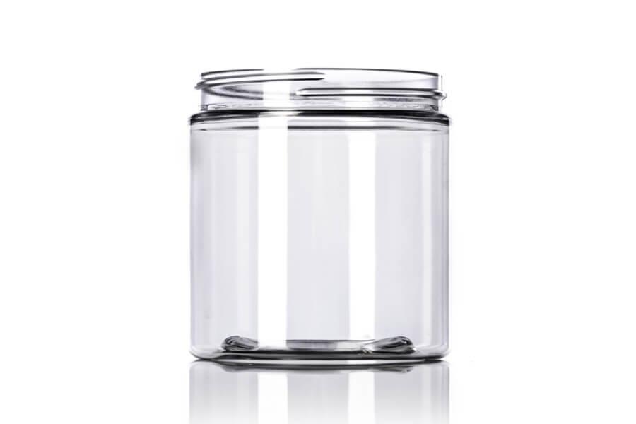 Clear PET Single Walled Jar – 8 oz
