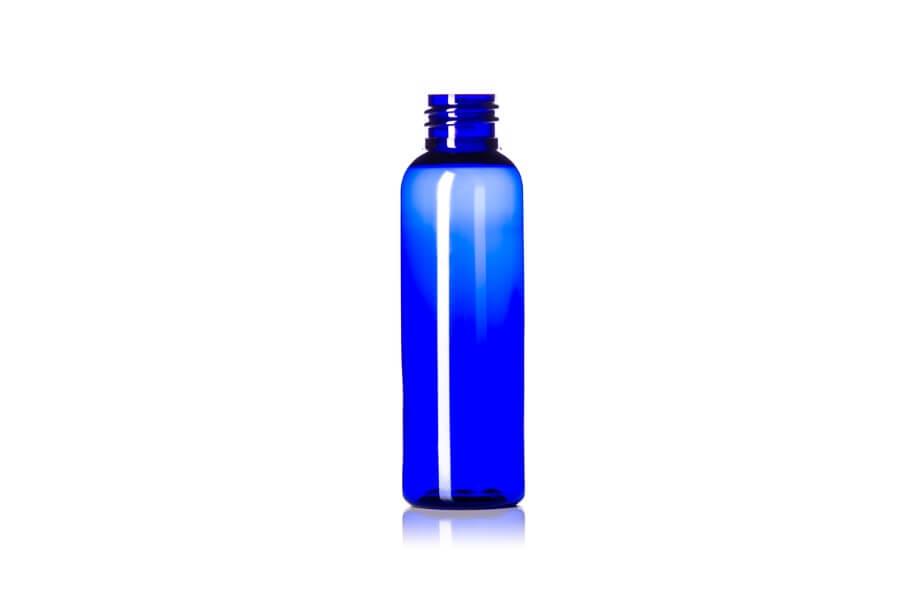 Cobalt Blue Cosmo Round PET Bottle – 2 oz