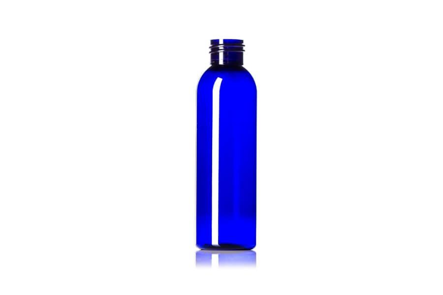 Cobalt Blue Cosmo Round PET Bottle – 4 oz