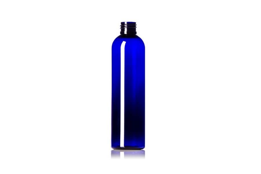 Cobalt Blue Cosmo Round PET Bottle – 8 oz