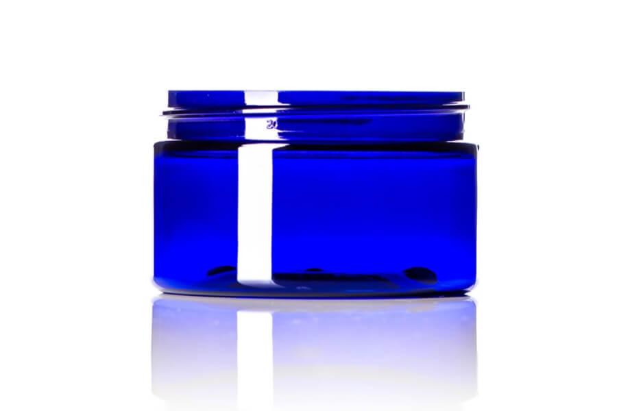 Cobalt Blue PET Low Profile Jar – 4 oz