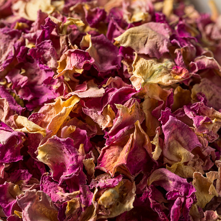 Dried rose petals pink