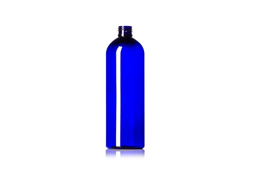 Cobalt Blue Cosmo Round PET Bottle – 16 oz