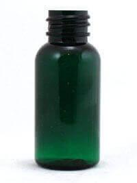 Green PET Boston Round Bottles
