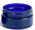 Cobalt Blue Low Profile PET Jars