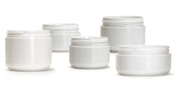 White Double Walled Cosmetic Jars