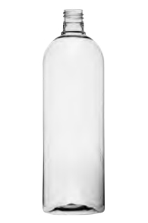 Clear Cosmo Round PET Bottle - 32 oz / 1 L