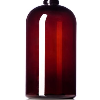 Amber PET Boston Round Bottle - 16 oz - 24-410