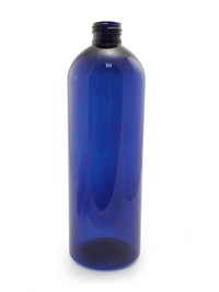 Cobalt Blue Cosmo Round PET Bottle - 16 oz / 473 ml