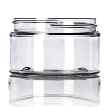 Clear Cosmetic Jar - 4 oz