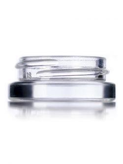 Clear Glass Low Profile Jar - 7 ml