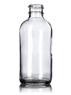 Clear Glass Boston Round Bottle - 4 oz - 24-400