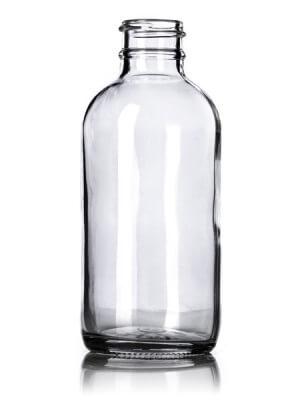 Clear Glass Boston Round Bottle - 4 oz - 24-400