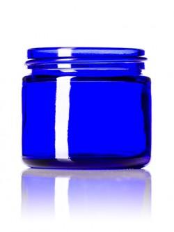Cobalt Blue Round Glass Jar - 2 oz