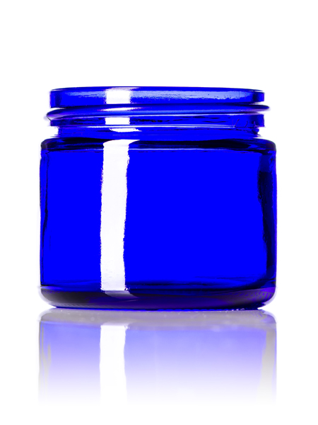 Cobalt Blue Round Glass Jar – 2 oz