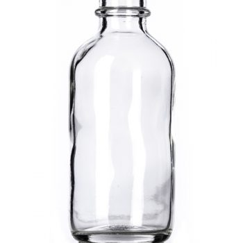 Clear Glass Boston Round Bottle - 2 oz