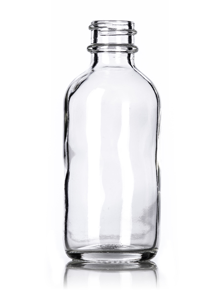Clear Glass Boston Round Bottle – 2 oz