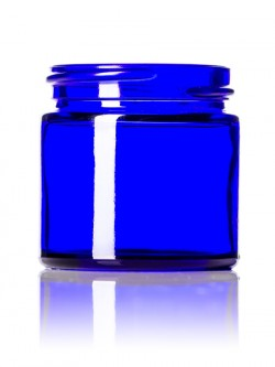 Cobalt Blue Round Glass Jar - 1 oz