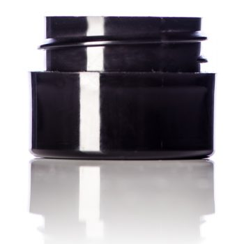 Black Double Walled Cosmetic Jar - 1/4 oz