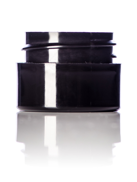 Black Double Walled Cosmetic Jar – 1/4 oz