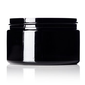Black PET Jar - 4 oz