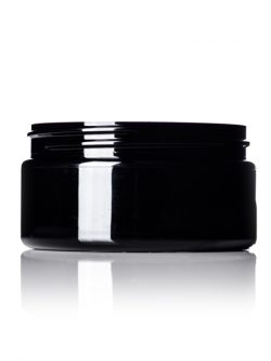 Black PET Jar - 8 oz