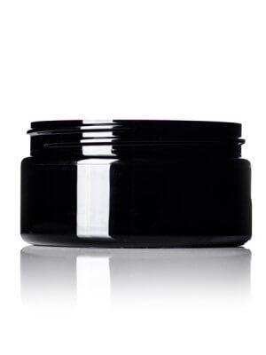 Black PET Jar - 8 oz