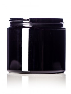 Black PET Jar - 16 oz