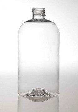 Clear Boston PET Bottle - 16 oz/473 ml - 24-410