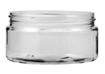 Clear Cosmetic Jar - 8 oz