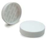 White Ribbed Lid 48-400