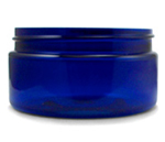 Cobalt Blue PET Low Profile Jar - 8 oz