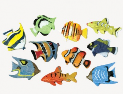 Embeddable Mini Tropical Fishes