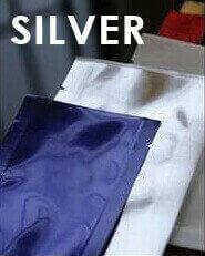 "Heat-sealable Silver Mylar Foil Mini-pouch - 2.0"" x 4.75"""