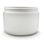 White Double Walled Cosmetic Jar - 8 oz