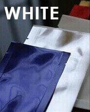 "Heat-sealable White Mylar Foil Mini-pouch - 2.0"" x 4.75"""