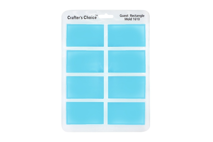 Crafter's Choice – Rectangle Guest Silicone Mold – 1610
