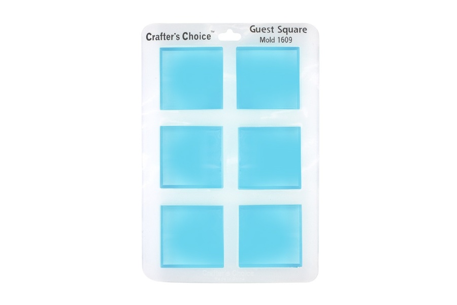 Crafter's Choice – Square Guest Silicone Mold – 1609
