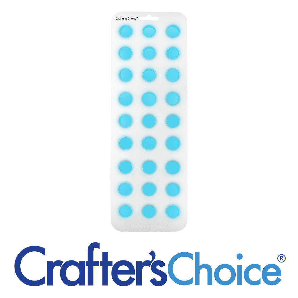 Crafter's Choice – Round Ball 7/8″ Silicone Soap Mold – 1803