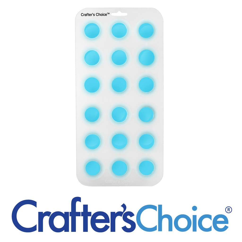 Crafter's Choice – Round Ball 1-1/4″ Silicone Soap Mold – 1802