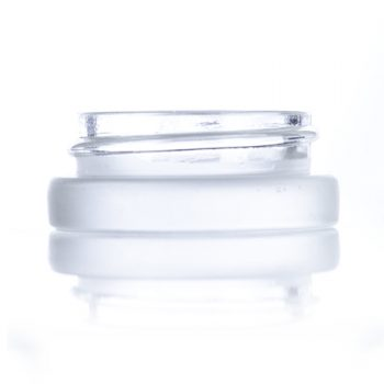 Frosted Glass Low Profile Jar - 7 ml