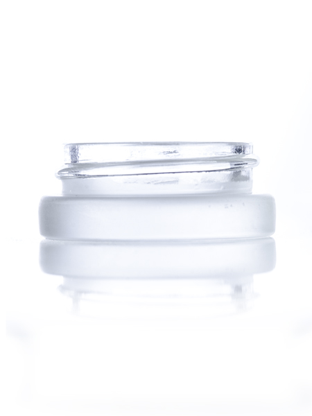 Frosted Glass Low Profile Jar – 7 ml