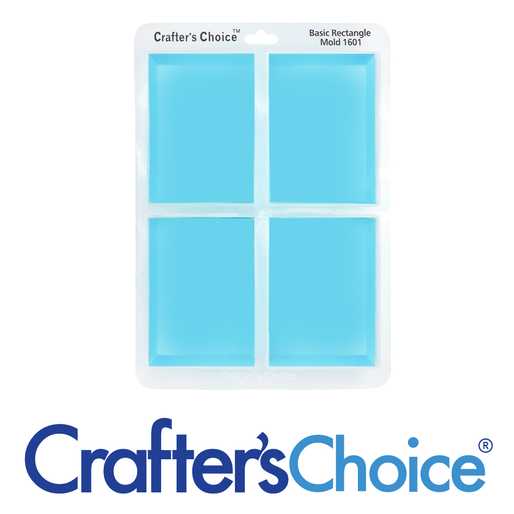 Crafter's Choice Basic Rectangle – Clear Silicone Mold 1601