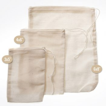 "Muslin Bags 3"" x 5"" - Small"