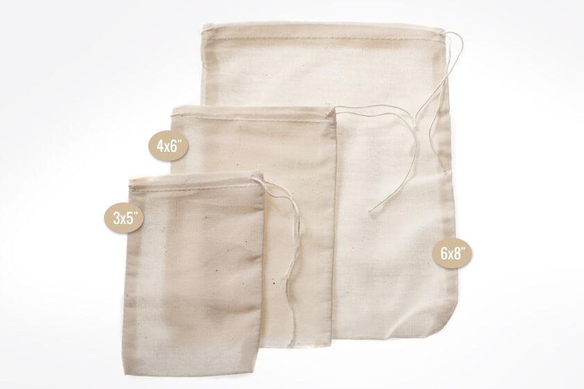 Muslin Bags 3″ x 5″ – Small