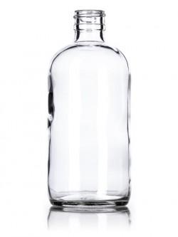 Clear Glass Boston Round Bottles