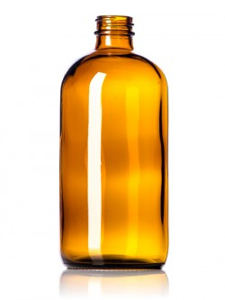 Amber Glass Bottle - 16 oz