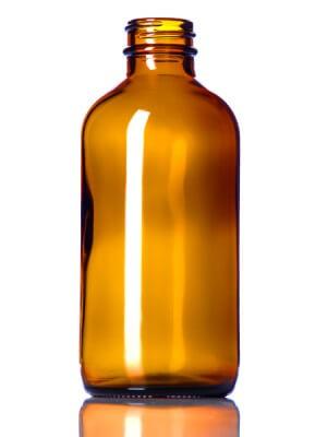 Amber Glass Bottle - 8 oz (28-400)